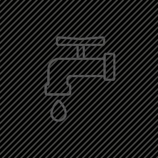 bathroom, drop, economy, faucet, supply, tube, water icon