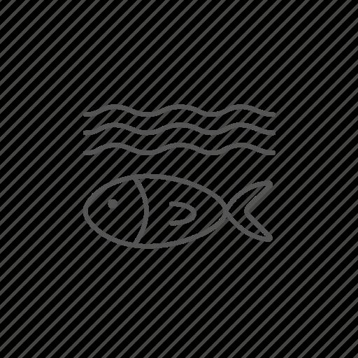 biology, ecosystem, fish, fishing, under, water icon