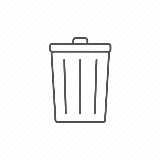 can, cleaning, delete, recycle, rubbish, throw, trash icon