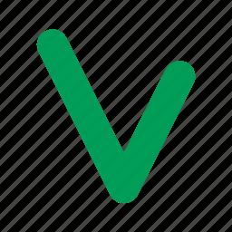 accept, add, apply, check, good, green, mark, ok, positive, success, tick icon