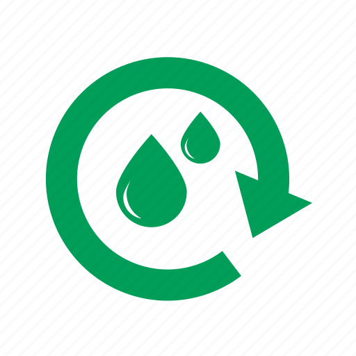 arrow, cycle, drop, ecology, green, nature, recycle, refresh, repeat, water icon