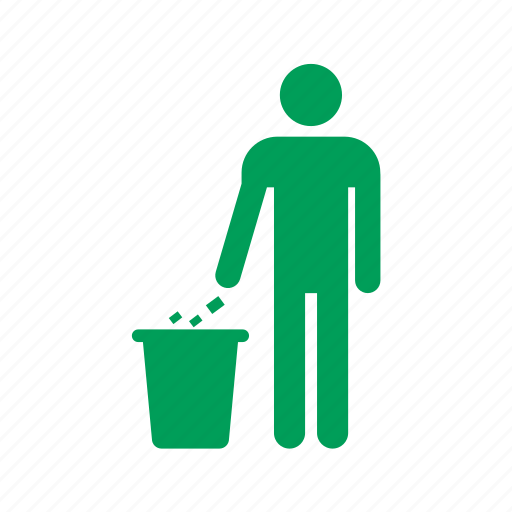 eco, ecology, garbage, man, nature, people, recycle, trash icon