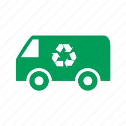 eco, ecology, garbage, recycle, transport, truck icon