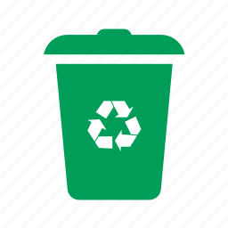 dump, eco, ecology, garbage, green, litter, trash, trashcan icon