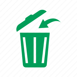 arrow, dump, eco, ecology, garbage, litter, trash, trashcan icon