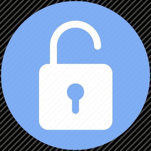 lock, open, padlock, security, unlock icon