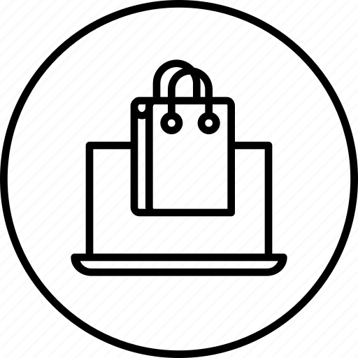bag, handbag, laptop, sale, sell, shop, shopping icon