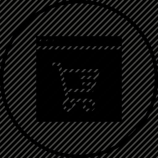 cart, device, discount, ecommerce, finance, profit, window icon