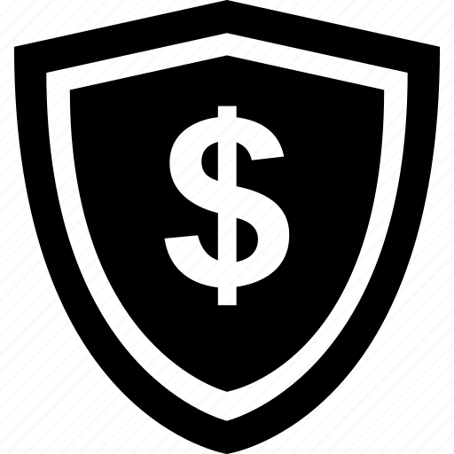 dollar, mobile, online, payment, secure, shield icon