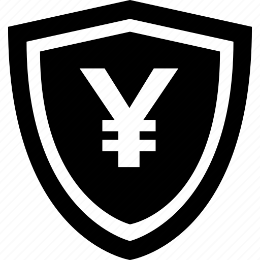 mobile, online, payment, secure, shield, yen icon