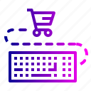 cart, ecommerce, finance, input, keyboard, shopping icon