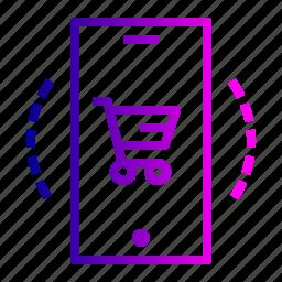 cart, ecommerce, finance, mobile, profit, sale, shop icon