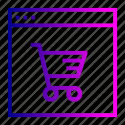 cart, ecommerce, finance, offer, profit, shop, window icon