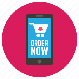 ecommerce, order, phone, shop, smartphone icon