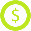 dollar, dollar sign, ecommerce, money icon
