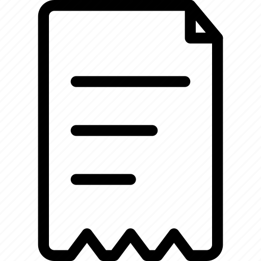 document invoice paper price receipt sale slip icon