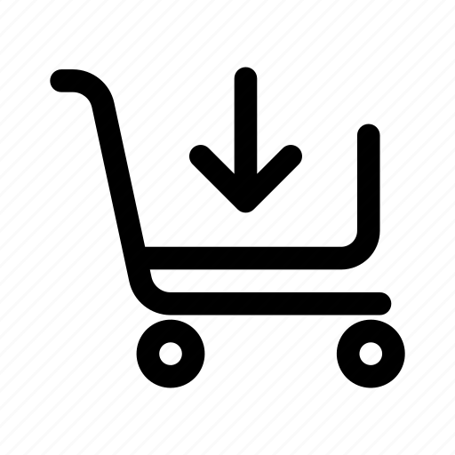 add to cart, added, cart, ecommerce icon