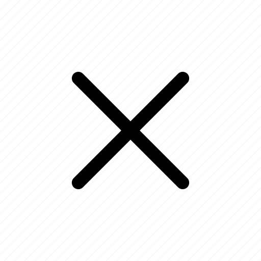 delete, ecommerce, exit, remove, x icon