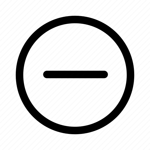 collapse, ecommerce, minus, remove, save for later icon