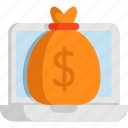 bread, cash, currency, dollar, funds, money icon