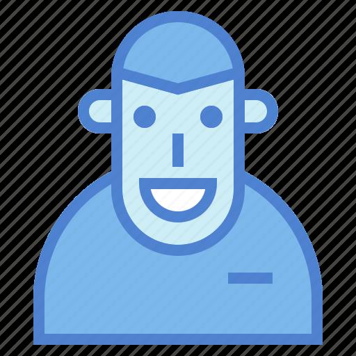 account, figure, interface, person, user icon
