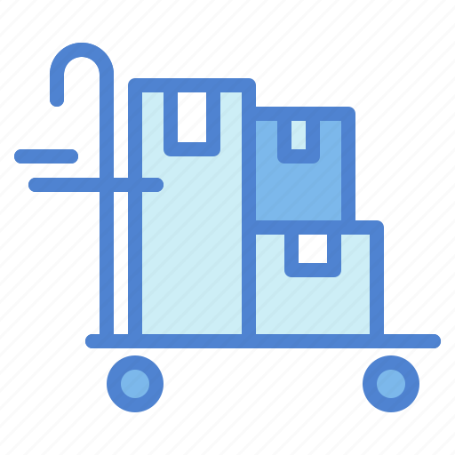cart, delivery, heavy, loads, trolley icon