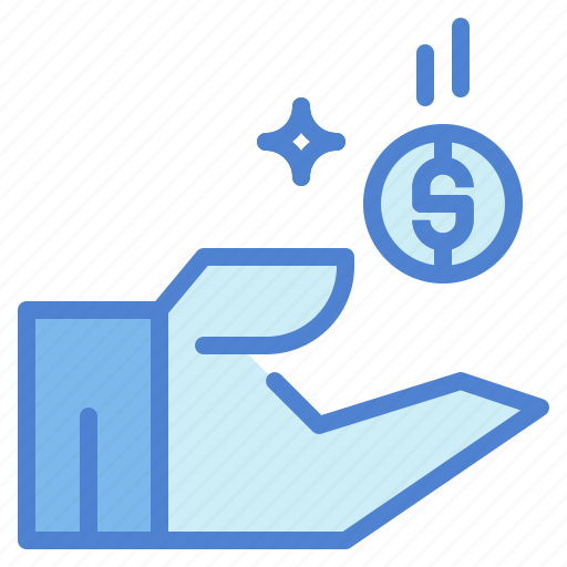 badge, commerce, discount, dollar, hand, insignia, sales icon