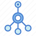 circles, connector, media, network, networking, share, social icon