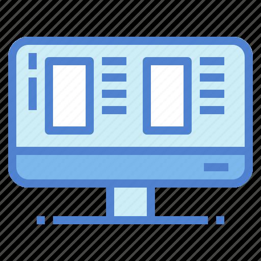 computer, monitor, premium, screen, technology, website icon