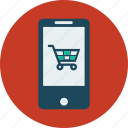 ecommerce, mobile, mobile shopping, shopping, smartphone icon