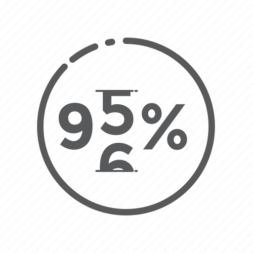 business, commerce, count, ecommerce, percentage, sign icon