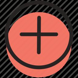 add, more, plus icon