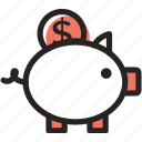 buy, coin, money, pig, safe, save, shopping icon