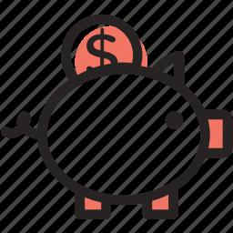 buy, coin, guardar, money, pig, safe, save, shopping icon
