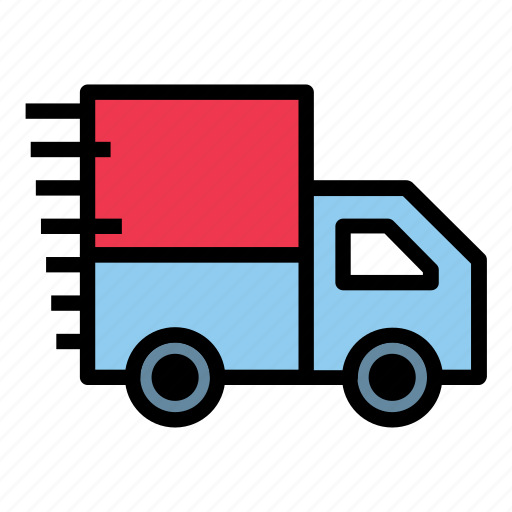 box, car, delivery, ecommerce, fast, shipping, shop icon