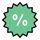 badge, discount, ecommerce, shop icon