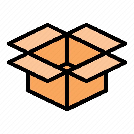 box, delivery, ecommerce, opened box, package, packaging, shop icon