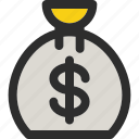 bag, bank, coin, currency, dollar, finance, money icon