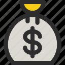 bag, money, bank, coin, currency, dollar, finance