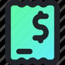 ecommerce, bill, finance, tax, budget, invoice, receipt