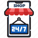 ecommerce, delivery, mobile, shop, store, smartphone, online