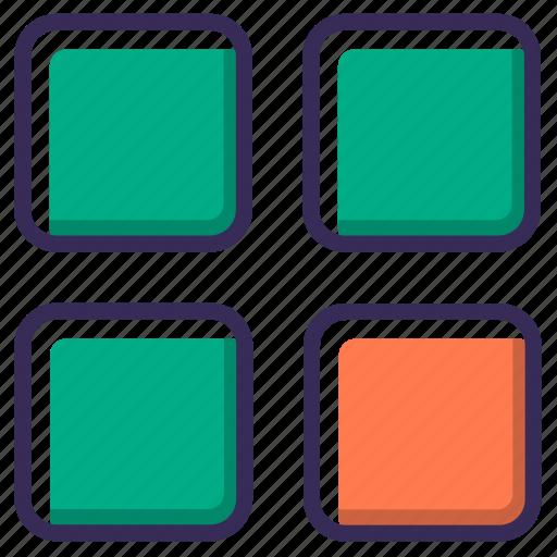 box, category, filter, folder, grid, menu, thumbnail icon