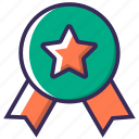 achievement, award, badge, featured, medal, military, prize icon