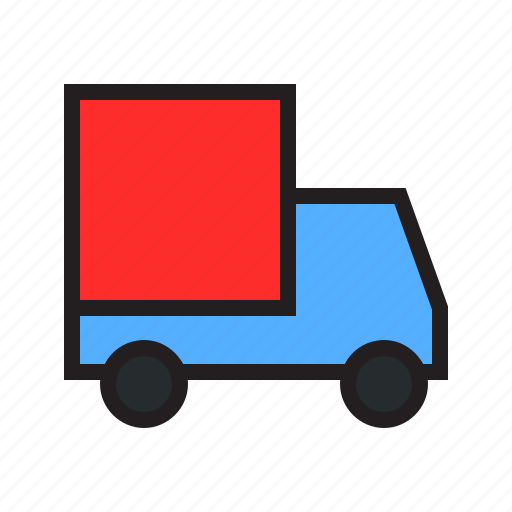 box, car, ecommerce, filled, free, shipping, status icon