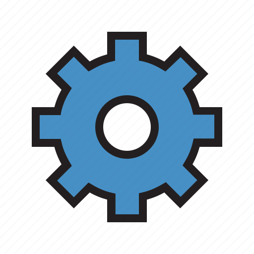 ecommerce, filled, gear, help, option, setting, support icon
