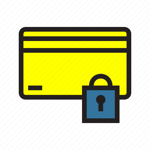 card, credit, ecommerce, filled, method, payment, secure icon