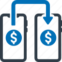 mobile, transfer, money icon