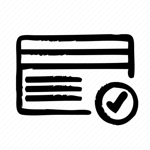 card, check, commerce, credit, e, payment, shopping icon