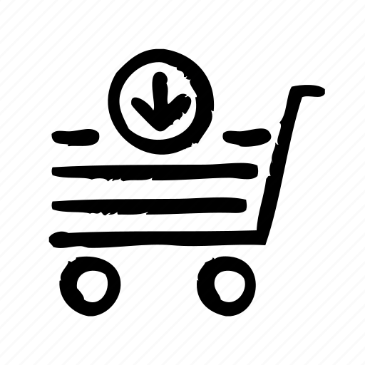 commerce, download, e, market, sell, shopping icon
