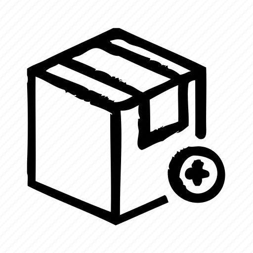 add, commerce, e, package, shipping, shopping icon
